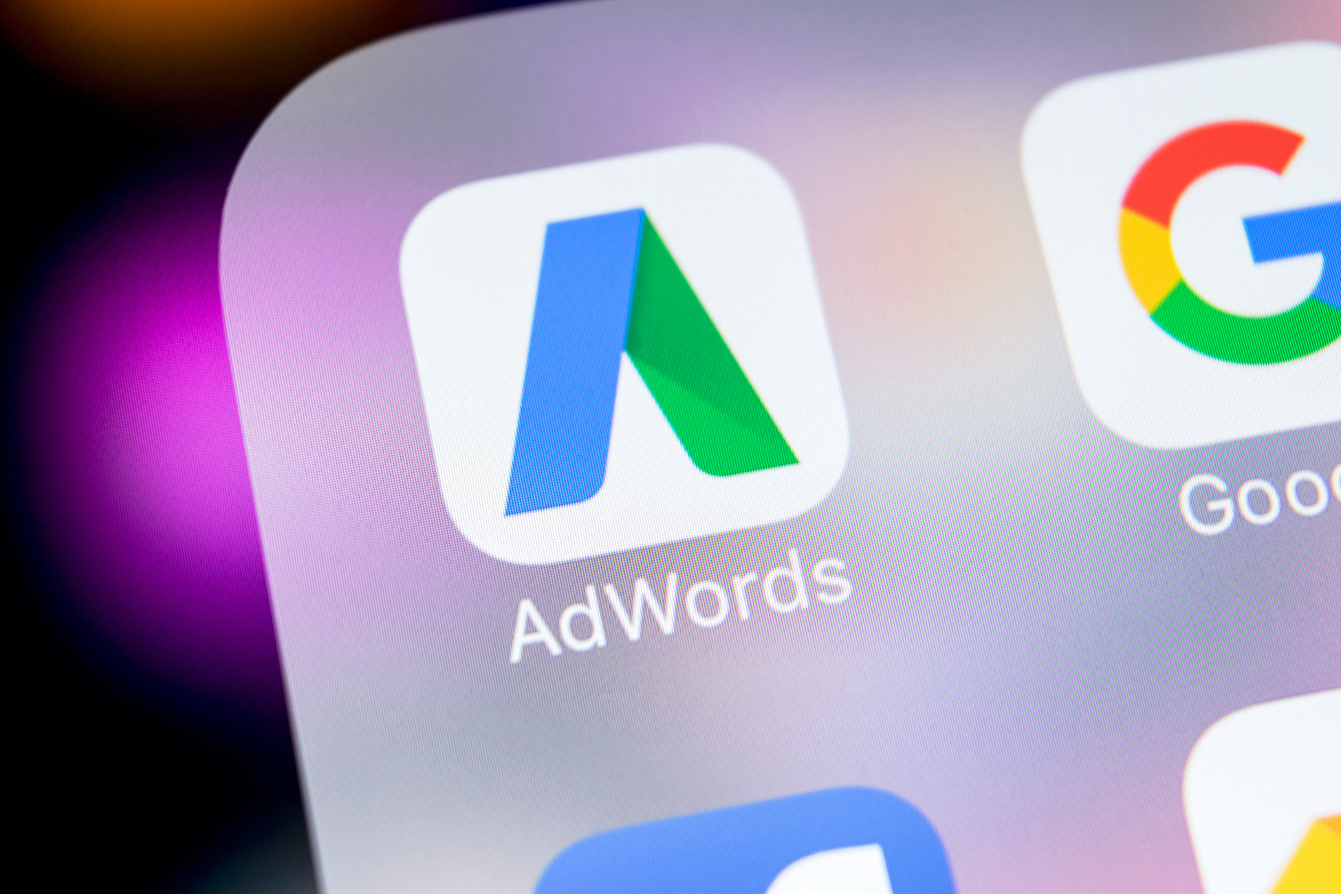 AdWords Icon on phone screen